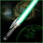 Jedi lFantasy Light-saber - Emeral d Knight
